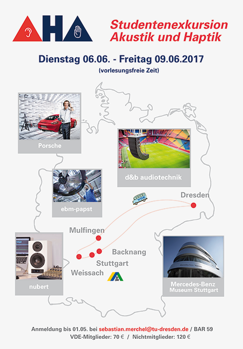 Plakat für die Exkursion Akustik 2017