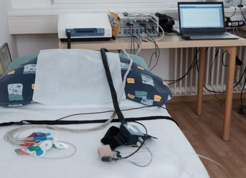Messplatz fetales EKG