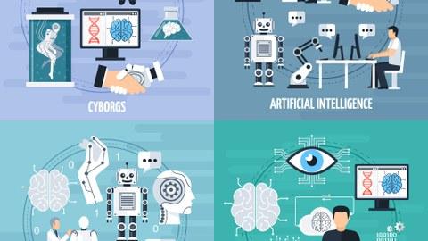 Illustrationen: künstliche Intelligenz