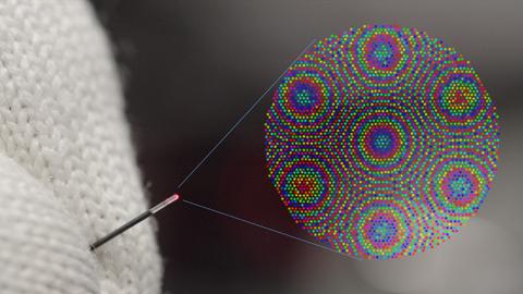 Nadelförmigen linsenlosen holografischen Endoskopen