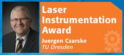Foto Jürgen Czarske und Text Laser Instrumentation Award - Jürgen Czarske