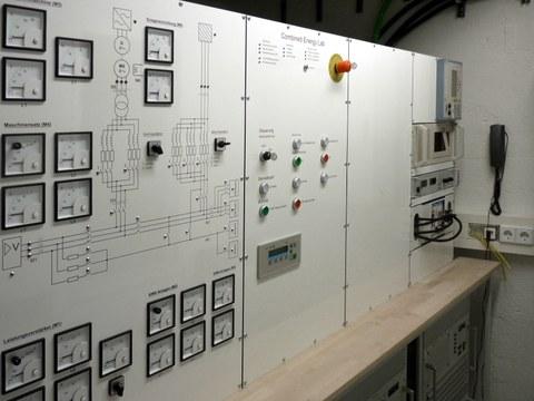 Bedienfeld des Combined Energy Labs