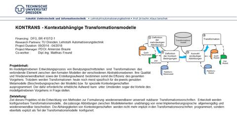 KONTRANS - Kontextabhängige Transformationsmodelle