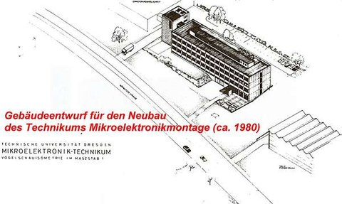 Gebäudeentwurf des heutigen Mierdelbaus