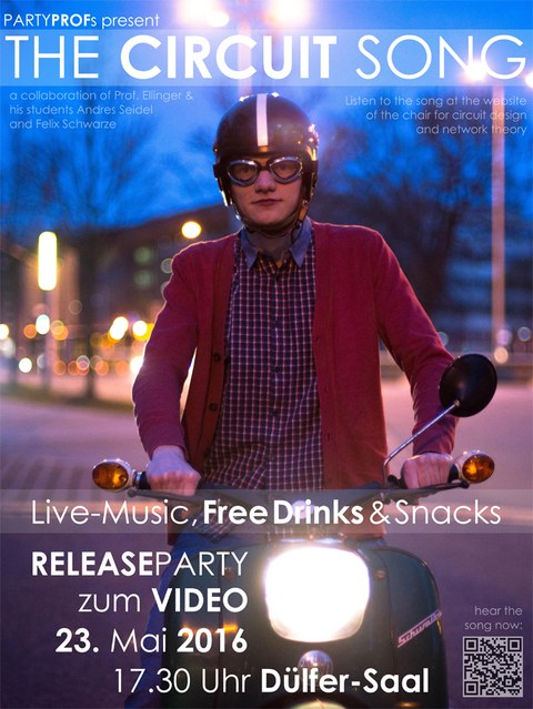 Poster zur Video Release Party am 23.5.2016