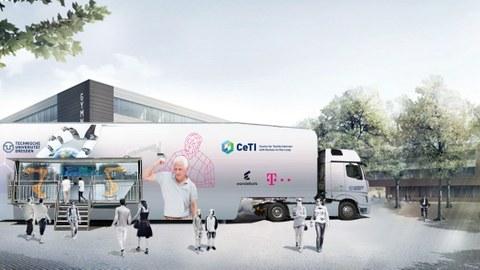 CeTI Truck Wissenschaft zum Ausprobieren