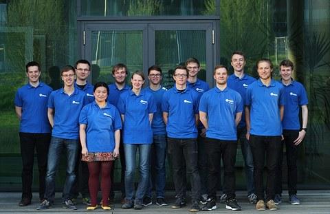 Das aktuelle Team der TU Dresden Robotik AG