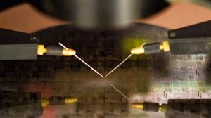 Bild: Untersuchung eines Wafers
