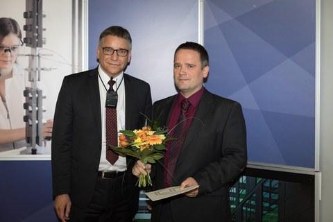 Verleihung des Lehrpreises durch den Dekan