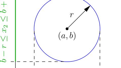 Projection of an algebraic set onto a semi-algebraic map