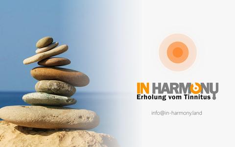 Logo: IN HARMONY - Erholung vom Tinnitus