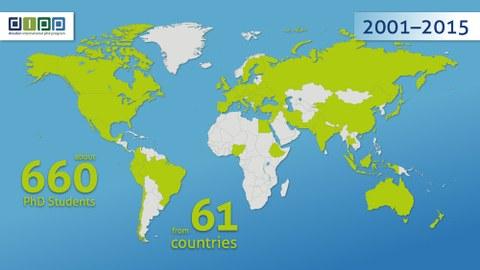 Promotionsprogramm Weltkarte