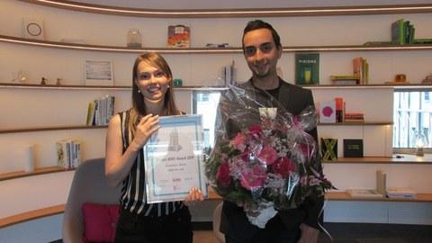 Jeannine Born und Amr Osman beim Deutsche Telekom Female STEM Award 2019 in Bonn