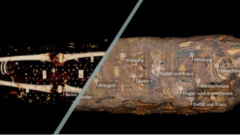 Darstellung der Mumienansichten für Sempergalerie-Medienguide