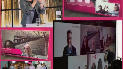 Zusammenstellung Streambilder von der Preisverleihung der Telekom Challenge 2021