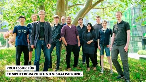 Das Bild zeigt die Mitarbeiter der Professur CGV im Juni 2021