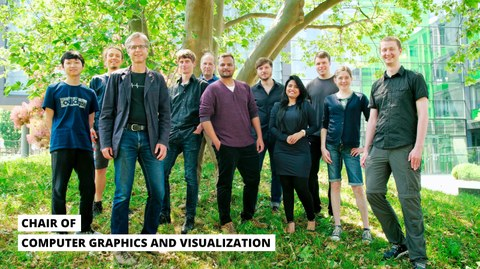 The picture shows the staff of the CGV lab in June 2021.