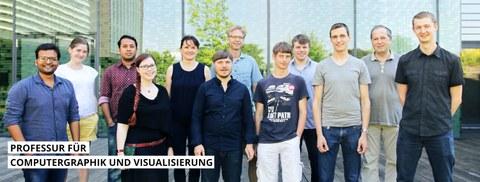 Das Bild zeigt die Mitarbeiter des Lehrstuhls CGV
