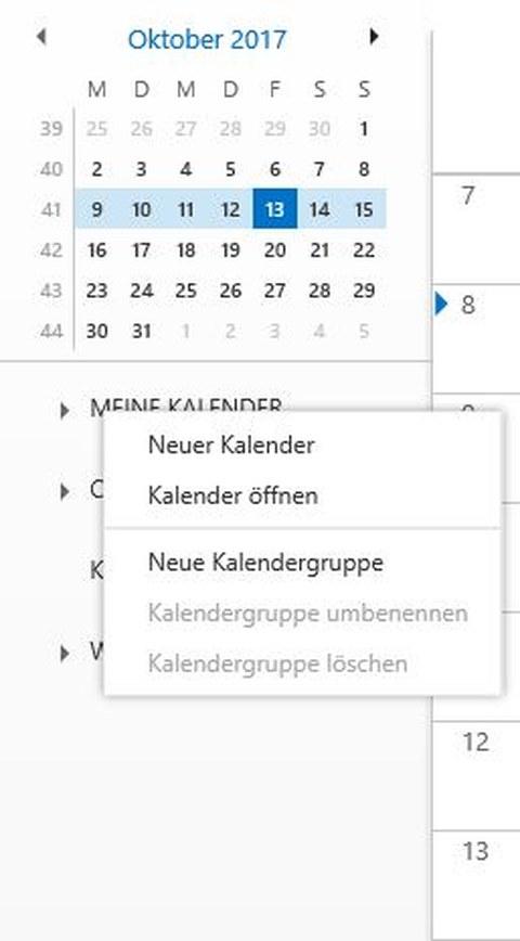 Kalender Öffnen