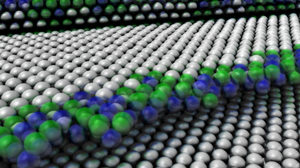 Visualisierung einer Atomstruktur mit Ambient Occlusion