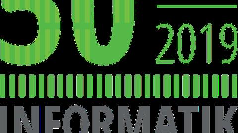 Logo zum Jubiläum 50 Jahre Informatik in Dresden (1969 bis 2019)