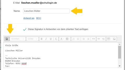 Übersicht Dienste von Schullogin.de, Fokus auf Nachrichten