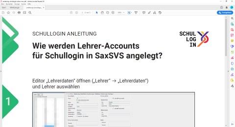 Schullogin Anleitung Lehrer-Accounts