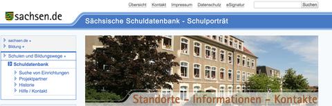 Screenshot Startseite Schuldatenbank