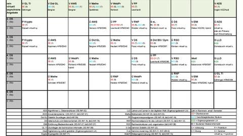 Stundenplan WS21/22