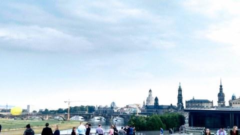 Ansicht der Stadt Dresden