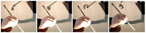 Formstudie mit Tinte