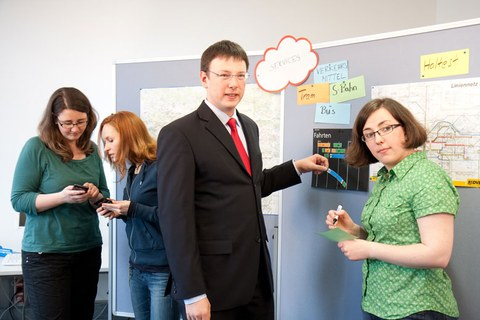 Das Team der Juniorprofessur Software Engineering ubiquitärer Systeme (SEUS).