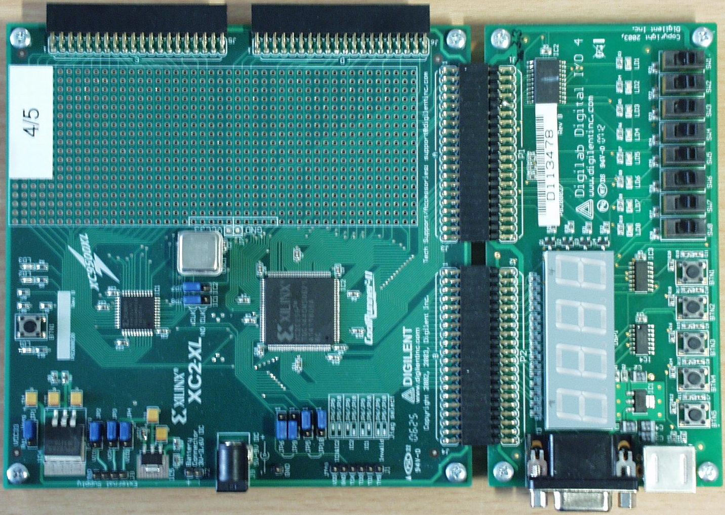 XILINX XC2-XL mit DIGILAB DIGITAL I/O 4