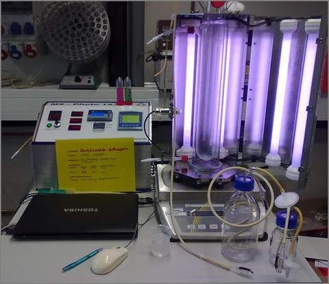 Photobioreaktor-Versuchsanlage