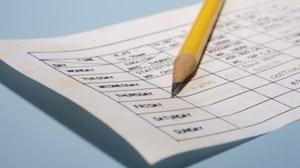 Bild von einem Wochenplan mit Bleistift