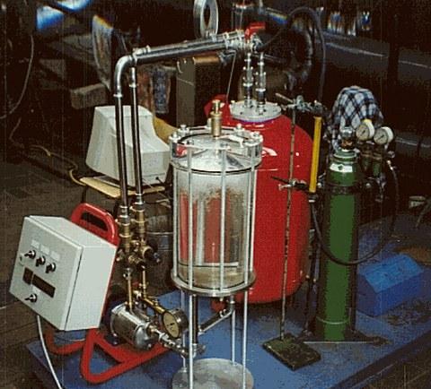 Gase - Versuchsaufbau