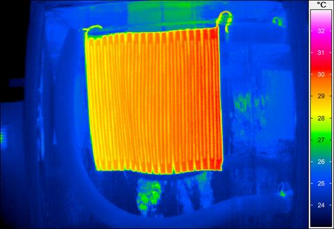 Thermografieaufnahme eines Prototypen