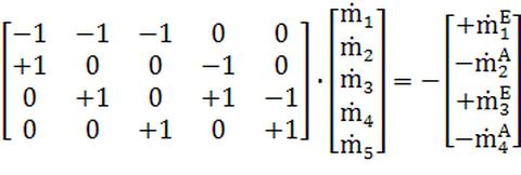 Kopplungsmatrix M