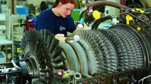 Arbeit an einer Turbomaschine