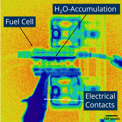Neutron Imaging of a fuel cell