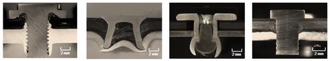 Verbindung von CFK und Aluminium mit Funktionselementen