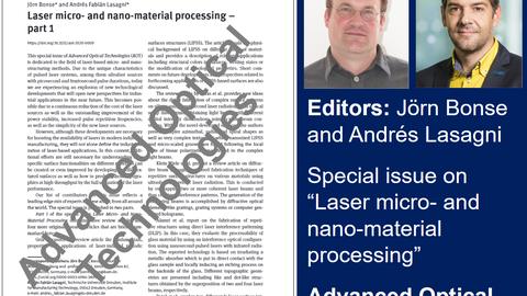 Sonderausgabe Laser-Mikro- und Nano-Materialbearbeitung