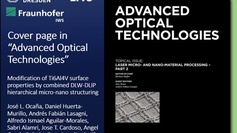 Cover Advanced Optical Technologies