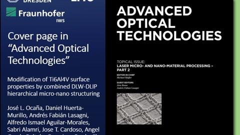 Cover Advanced Optical Technologies