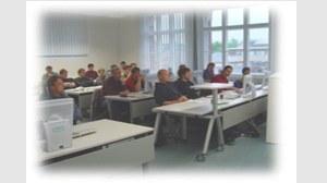 Studenten in Seminarraum