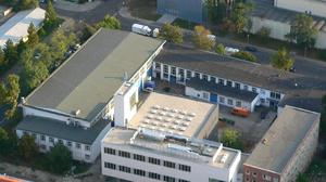 Luftbild der des Gebäudekomplexes Marschnerstraße 30