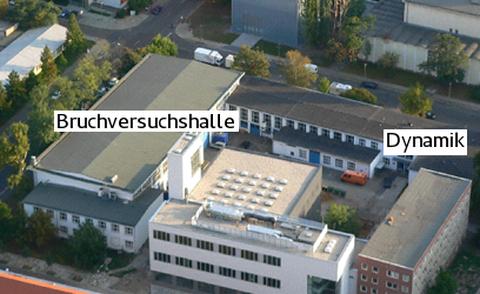 Ansicht des Gebäudekomplexes Marschnerstraße