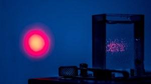 Laser erleuchten Teilchen