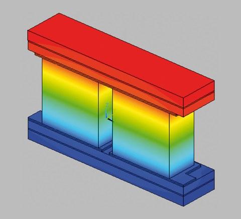 Aufbau eines thermoelektrischen Elements