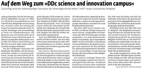 Auf dem Weg zum »DDc science and innovation campus«